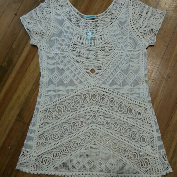 26c93367ced Lace and Crocheted Top. NWT. Maurices